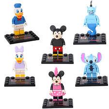 Donald Duck Stitch Mickey Daisy Genie Minnie 6 Mini figures Building Toys