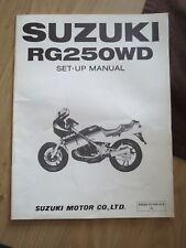 Original factory Set-up Manual Suzuki RG250WD  April 1984
