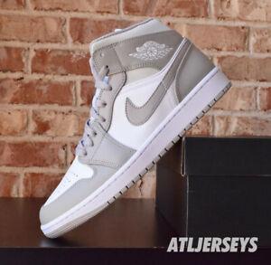 Nike Air Jordan 1 Mid Grey Light Bone 554724-082
