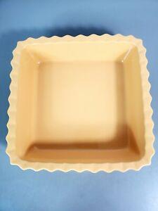 Chantal 2 Qt. Baking Serving 93-SQR20 Casserole Dish Stoneware Yellow Mustard