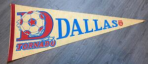 """VINTAGE 1980 Dallas Tornado NASL 29.5"""" Pennant"""