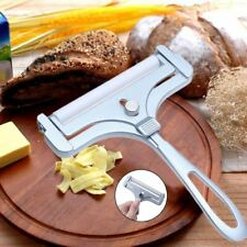 Silver Adjustable Cheese Slicer Cutter Slice Tool Butter Planer Grater With Wire