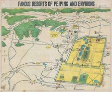 1936 Science Press Pictorial Map of Beijing and Environs