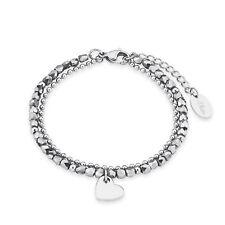 s.Oliver Damen Armband 2018344 mehrreihig aus Edelstahl mit Herz