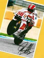Marco SIMONCELLI - verstorben - Autogramm Bild (2) Print Copie + Motorrad AK