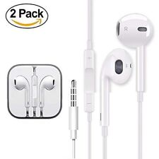 Iphone Headphone with MIC and Volume Control 2 Pairs Iphone 3, 4, 5, 6 NEW