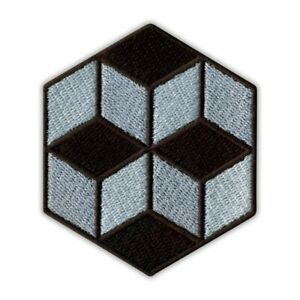 CUBES - Optical illusion, Op-Art series Embroidered PATCH/BADGE
