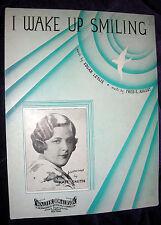 1933 I WAKE UP SMILING Vintage Sheet Music KATE SMITH by Fred Ahlert, Leslie