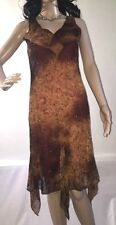 Rocket Candy Party Dress Medium Sexy Brown Bronze Glittery Floral Sundress