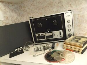 Vintage Sony TC-260 Reel to Reel Stereo Recorder/Player & Tapes
