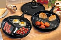 Combo Divided All in One Easy Clean Black Non Stick Frying Pans x 2 with Lids