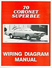 1970  70   DODGE CORONET WIRING DIAGRAM  MANUAL