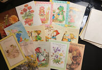 Vintage Greeting Cards Lot of 14: Thinking Of you, Get well soon, Congrats