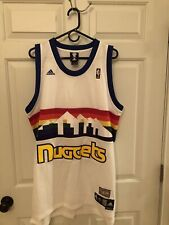 Denver Nuggets Adidas Hardwood Classics Mens Jersey Size L (Length +2)