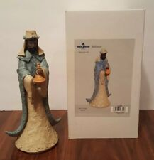 "Nativity Figurine Christmas Wiseman Baltasar King Resin 10"" New Center Street"