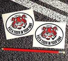 ESSO Put A Tiger In Your Tank classic Petrol Stickers Retro Vintage F1 Lemans