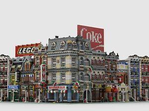 LEGO CUSTOM MODULAR HIGH STREET CORNER INSTRUCTIONS MANUALS PDF MOC train city
