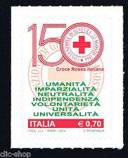 ITALIA 1 FRANCOBOLLO CROCE ROSSA ITALIANA 2014 nuovo**