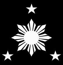 "Philippine Sun Star Custom Car Decal Sticker 5"" x 5"""