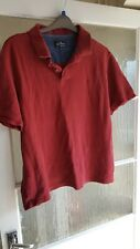 Mens Polo Shirt Marks And Spencers Blue Harbour 2XL Red