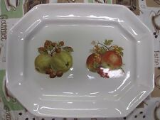 "Bisque White 15"" Octagonal Handmade Bread Serving Platter Plate Country Feel"