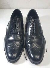 Vintage Florsheim Imperial Wingtip Black Oxford Dress Shoes size 10 C Narrow