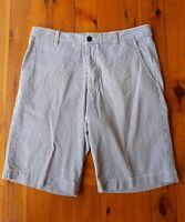 SPORTSCRAFT Navy/White Stripe Mens Shorts Size 87/34