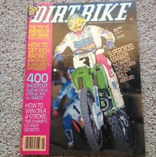DIRT BIKE MAGAZINE MAY 1990 JEFF WARD KX250 400 SHOOTOUT SUPERCROSS VINTAGE VMX