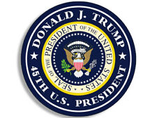 4x4 inch Round DONALD J TRUMP 45th US President Sticker - seal pro logo official