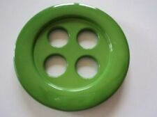 B795-56mm 2pcs HUGE LARGE CLOWN 4 BIG HOLE PLASTIC SOLID ITALIAN BUTTONS-COAT
