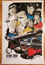 """""""To Boldly Go"""" Silkscreen Star Trek Poster Josh Budich"""