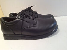 Acor Black Leather Lace Up Shoes Comfort Walking Men 8 Women 10 Wore 1 Time