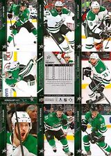 2015-16 UD Upper Deck Dallas Stars Regular + Canvas Team Set (18)