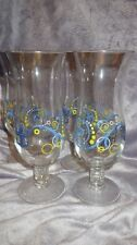 Royal Caribbean Hurricane Drinking Glasses Blue Swirl 4 16oz glasses