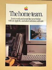"for collectors -- 1980-ies Apple Computer poster ""The Home Team"" Apple IIGS Rare"