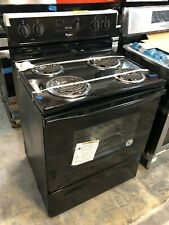 """Whirlpool Wfc150M0Eb 30"""" Freestanding Electric Range with 4 Coil Elements Black"""