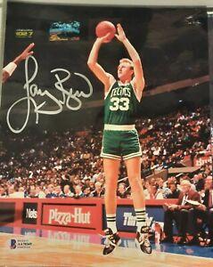 Autographed 8x10 Color Photo Boston Celtics HOFer Larry Bird