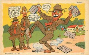 Comic Humor Military Letters Ray Walters Teich #1B-H2 Postcard 21-1823