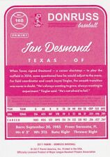 2017 DONRUSS IAN DESMOND OF TEXAS #160 PINK BACK SP