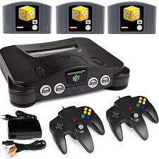 N64 / Nintendo 64 Konsole + 2 Controller Neu + alle Kabel + 3 Spiele