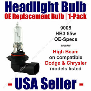 Headlight Bulb High Beam OE Replacement Fits Listed Dodge & Chrysler Models 9005