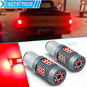RED LED Brake Tail Turn Signal Light Bulb Lamp For Chevrolet C10 K10 C20 1975-86