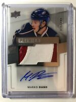 2014-15 Upper Deck Premier MARKO DANO Rookie Autograph 3 Color Patch /299