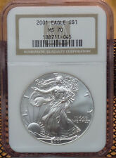 2001 AMERICAN SILVER EAGLE NGC MS70
