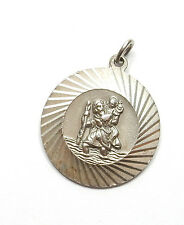 Georg Jensen Vintage Sterling Silver St Christopher Travel Luck Pedant 6.3g