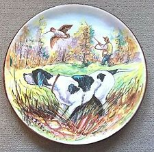 Vietri Pottery-15 Inch Plate With Hunting Scenes.Made/Painted by hand in Italy