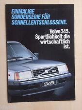 Volvo 345 GLS Sonderserie Prospekt / Brochure / Depliant, D, 1982