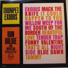 TRUMPET EXODUS Don Goldie and His Orchestra LP - Verve