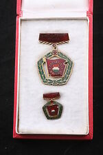 Hungary Hungarian Medal Socialist High Excellent Brigade Box Mini Soviet Labor