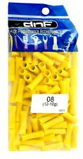100 PACK YELLOW 12-10 GAUGE VINYL FULLY INSULATED COPPER BUTT CONNECTORS